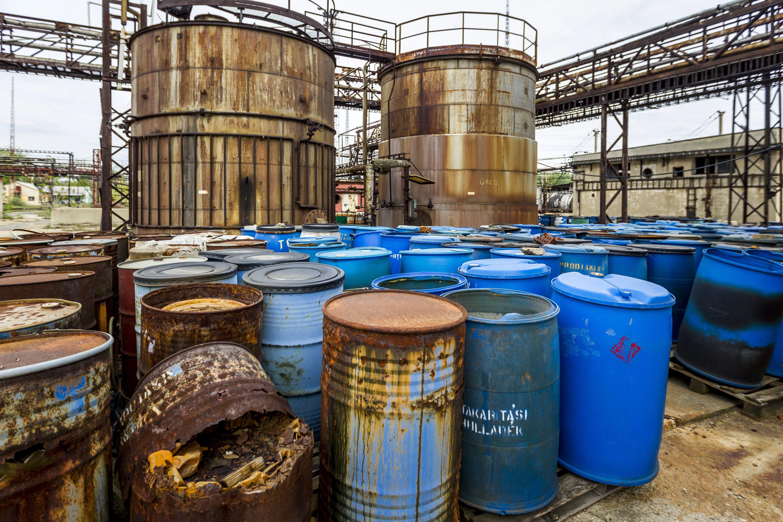 Sérült veszélyes hulladékok a BVM telephelyén